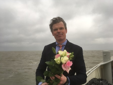 Bloemengroet tijdens asverstrooien 20 maart 2017
